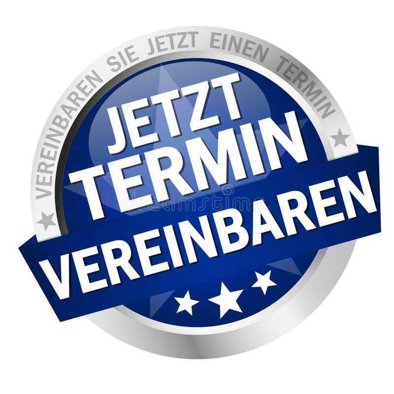 Bouton avec la bannière organiser la réunion maintenant &#x28 ; en allemand illustration libre de droits
