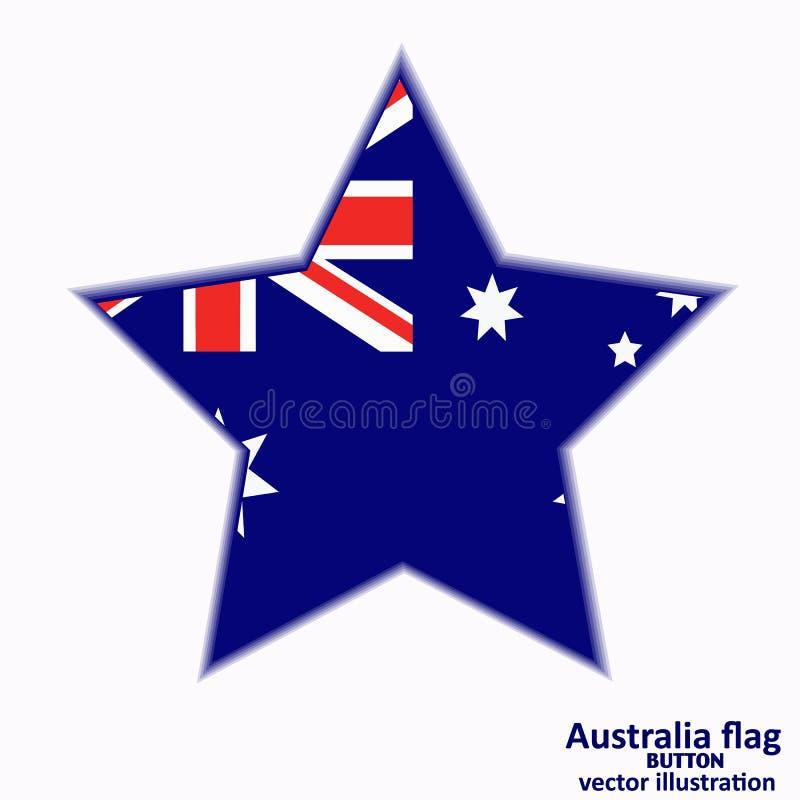 Bouton avec le drapeau de l'Australie Vecteur illustration de vecteur