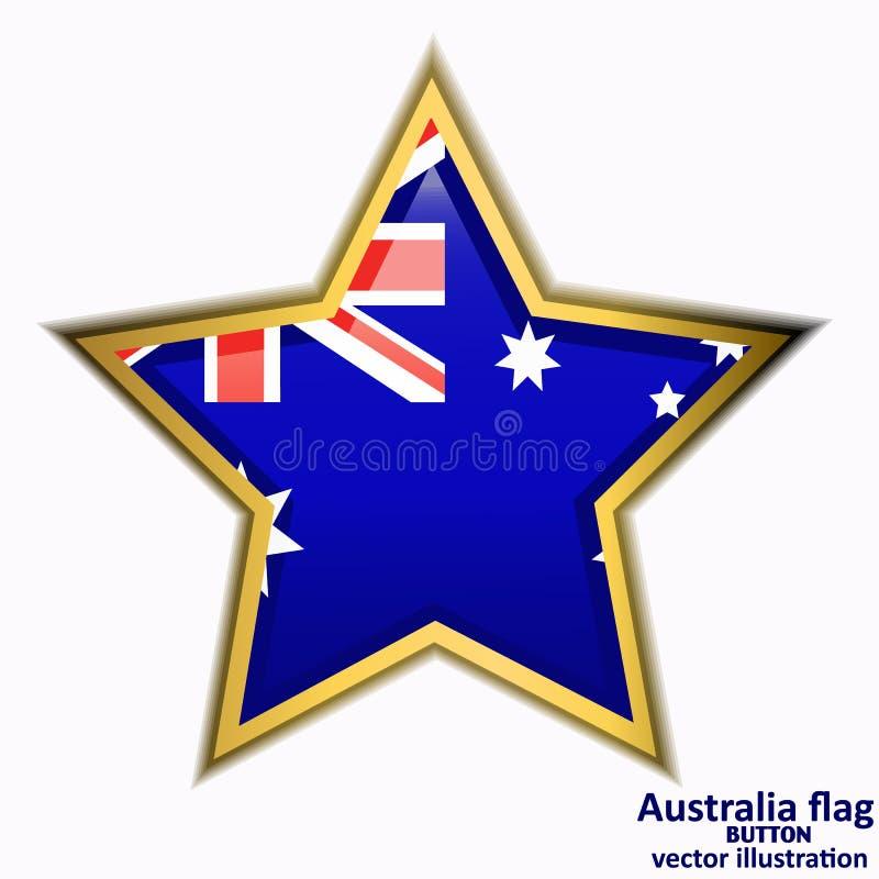 Bouton avec le drapeau de l'Australie Vecteur illustration libre de droits