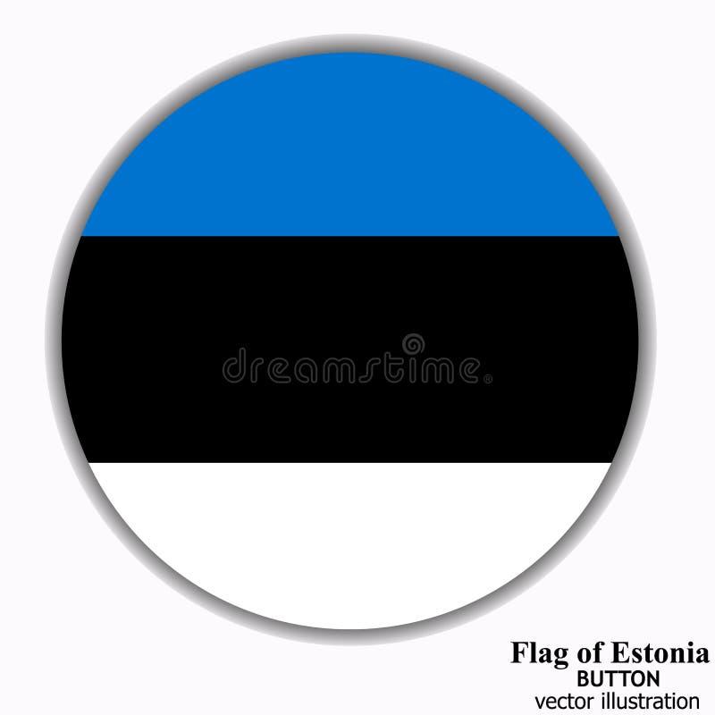 Bouton avec le drapeau de l'Estonie Vecteur illustration de vecteur
