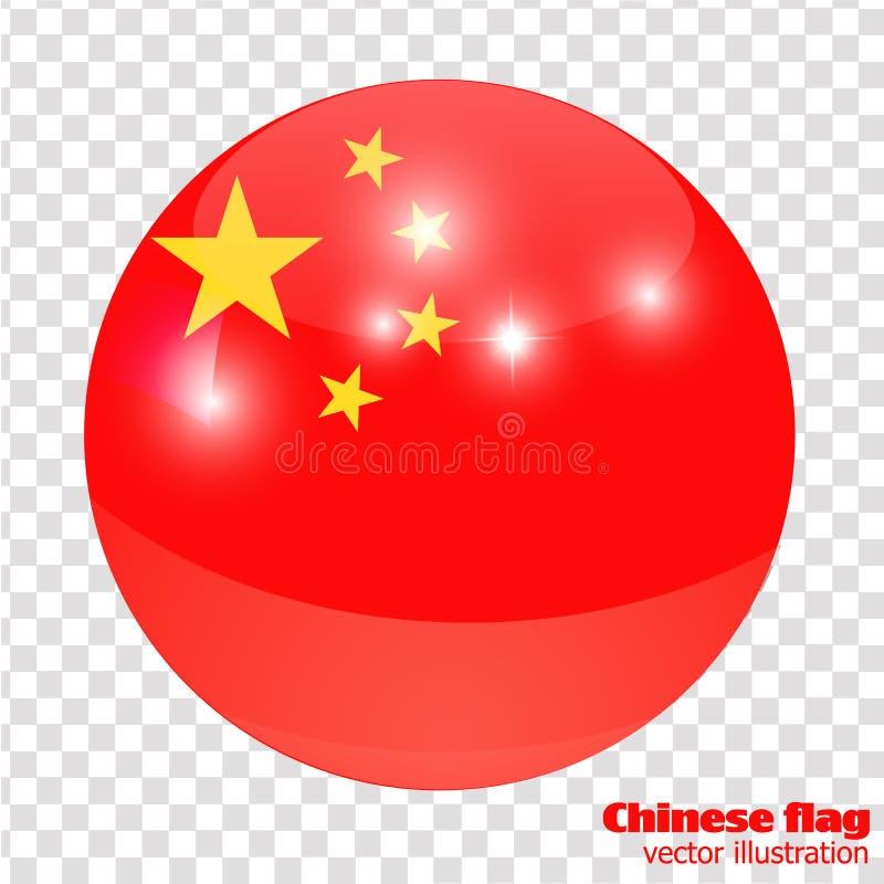 Bouton avec le drapeau de la Chine illustration libre de droits