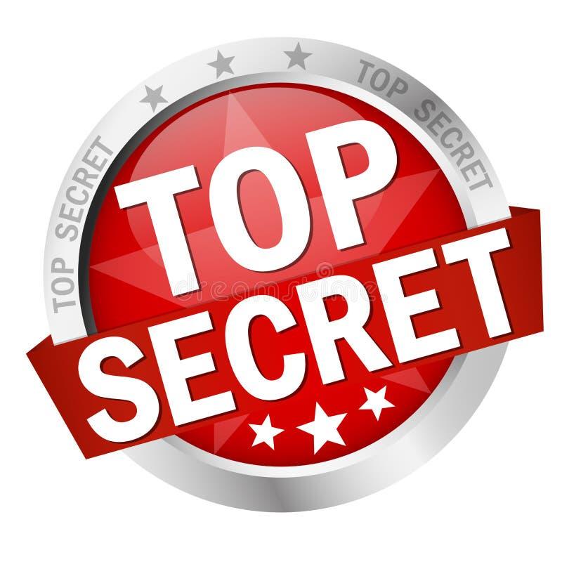 Bouton avec le top secret de banni?re illustration libre de droits