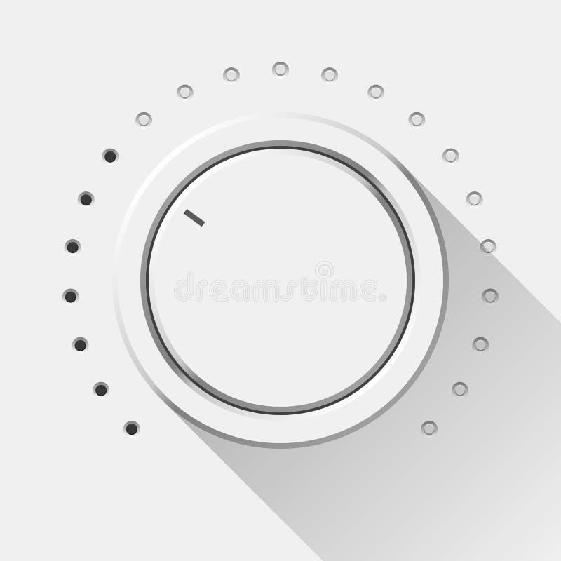 Bouton blanc de volume de technologie illustration de vecteur