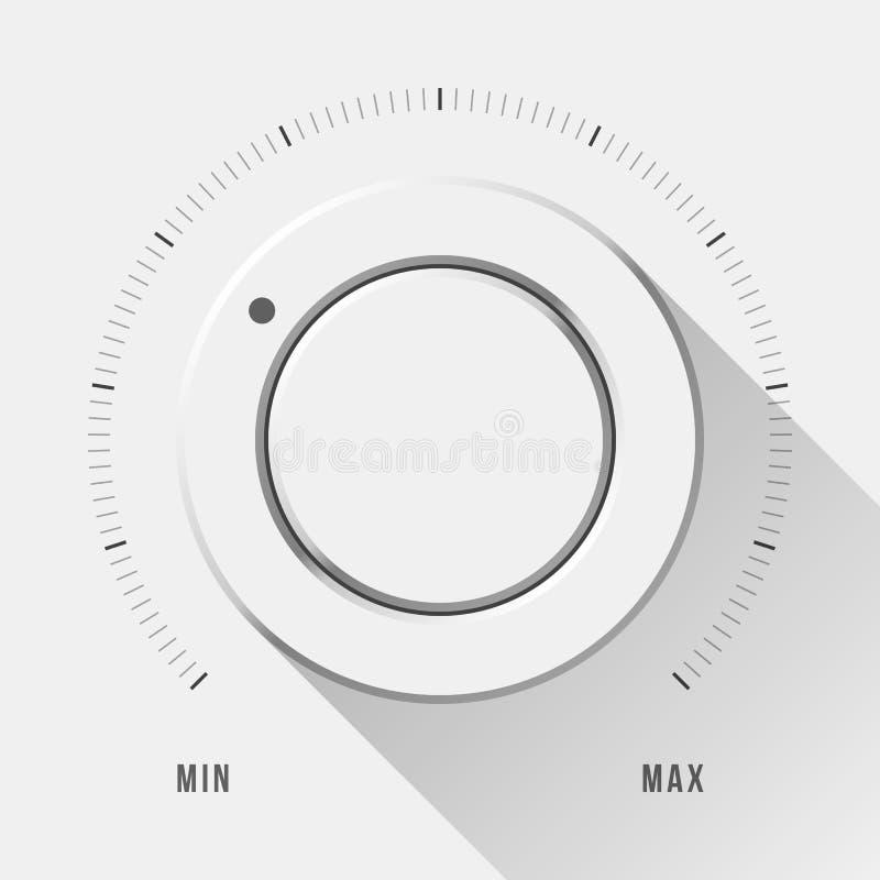 Bouton blanc de volume de technologie illustration stock