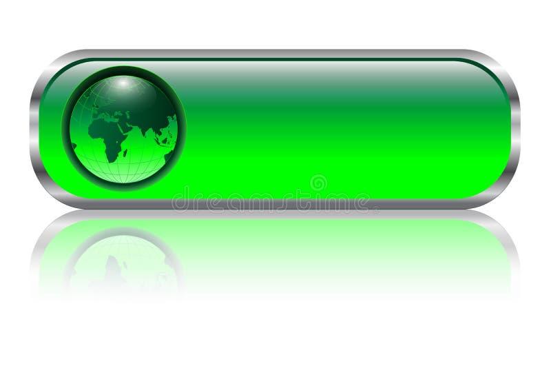 Bouton blanc de Web illustration de vecteur