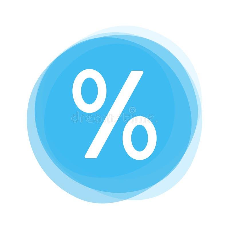 Bouton bleu-clair : Pour cent illustration de vecteur