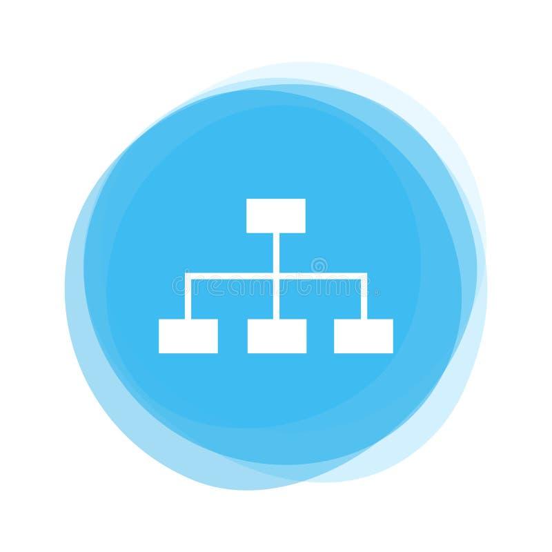 Bouton bleu-clair : Réseau illustration de vecteur