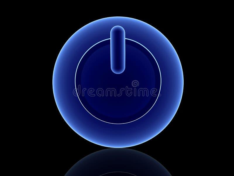 Bouton bleu de pouvoir illustration libre de droits