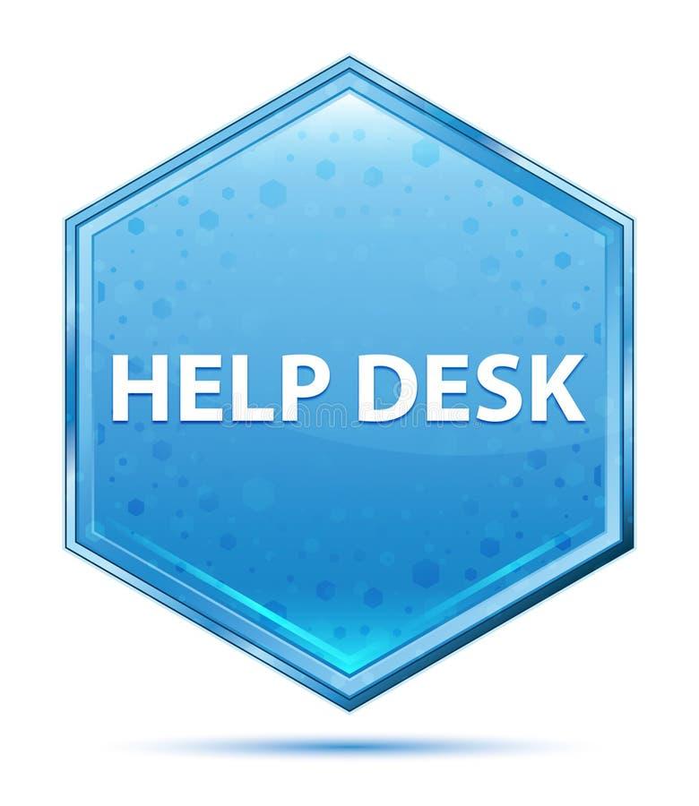Bouton bleu en cristal d'hexagone de service SVP illustration stock