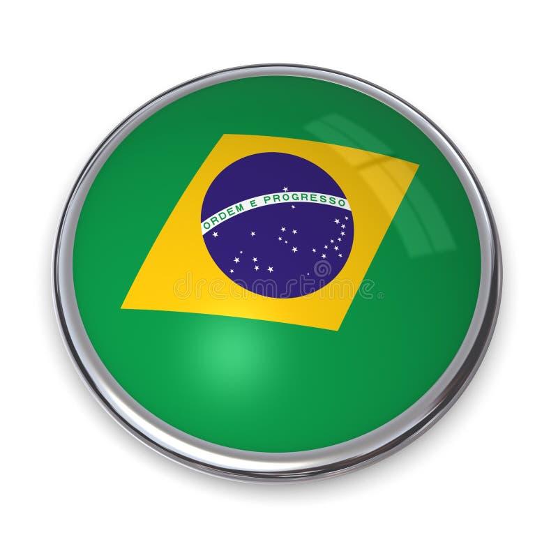 Bouton Brésil De Drapeau Photos libres de droits