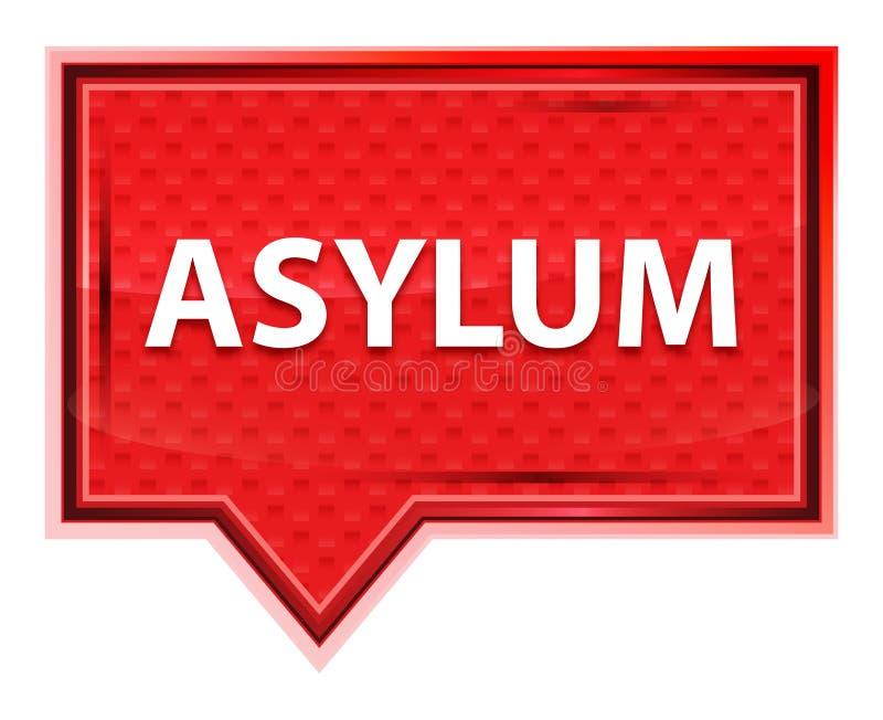 Bouton brumeux de bannière de rose de rose d'asile illustration libre de droits