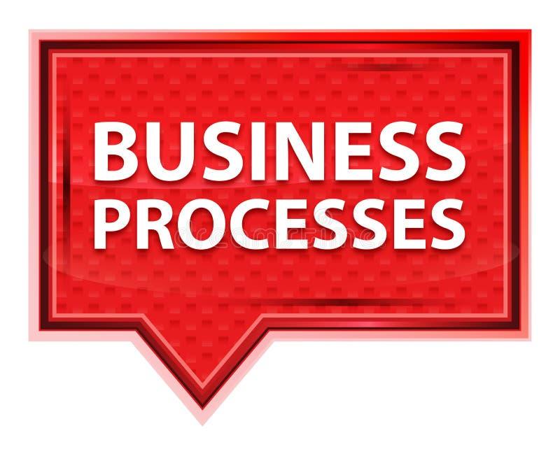 Bouton brumeux de bannière de rose de rose de processus d'affaires illustration libre de droits