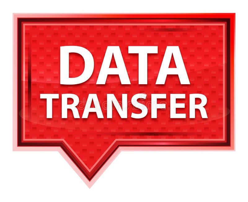 Bouton brumeux de bannière de rose de rose de transfert des données illustration libre de droits