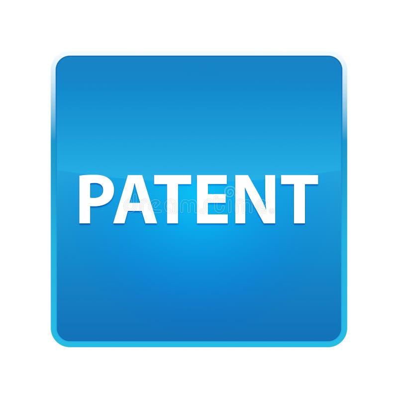Bouton carré bleu brillant de brevet illustration libre de droits