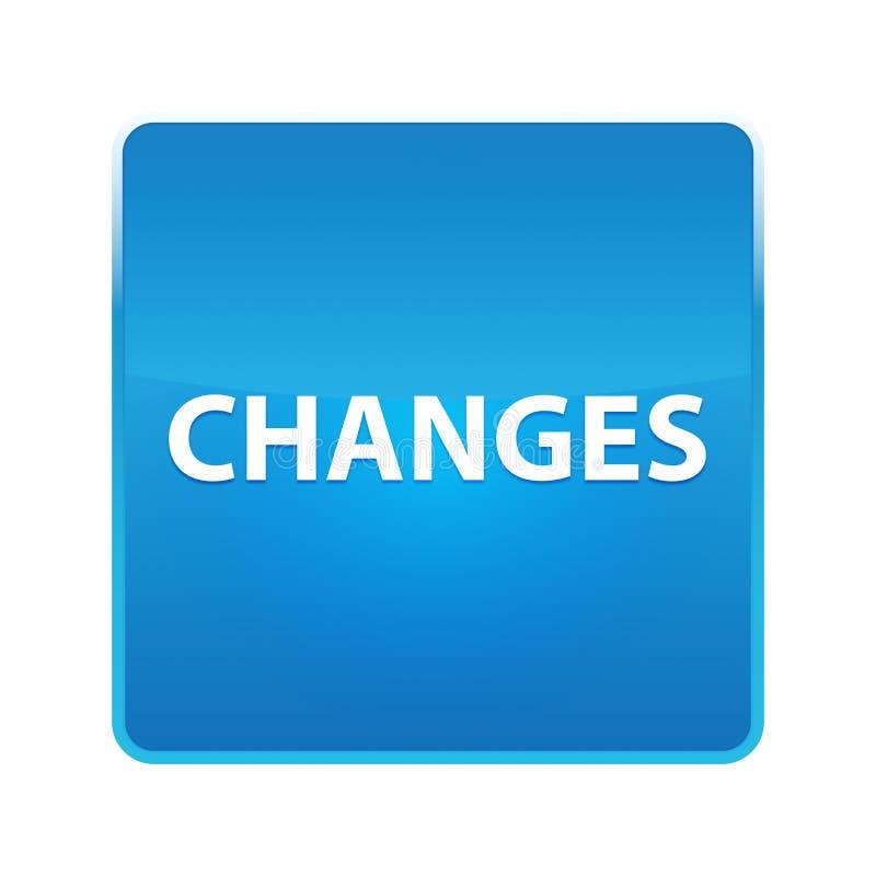 Bouton carré bleu brillant de changements illustration de vecteur