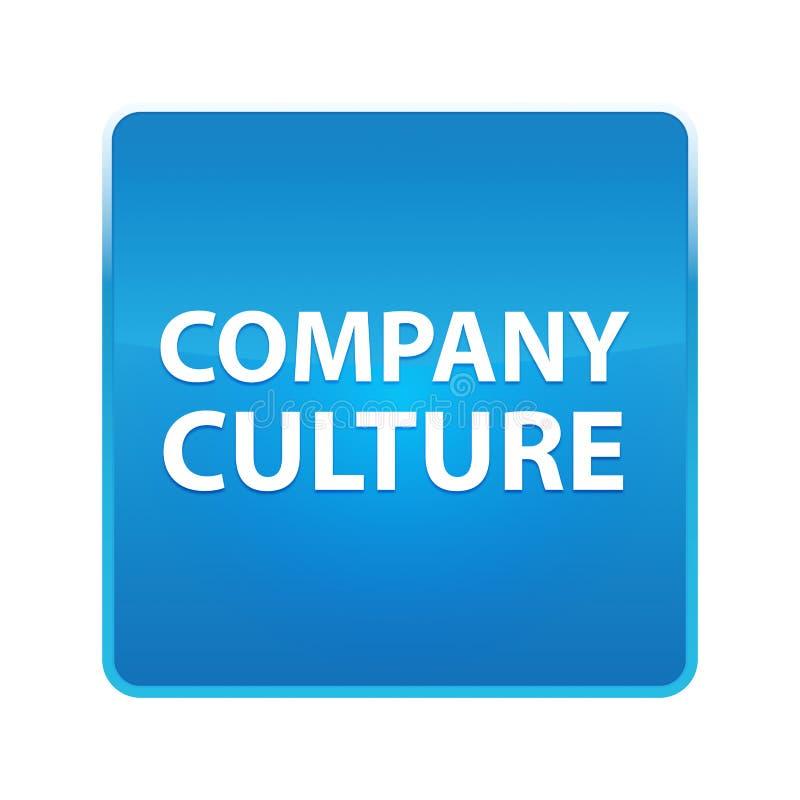 Bouton carré bleu brillant de culture d'entreprise illustration libre de droits