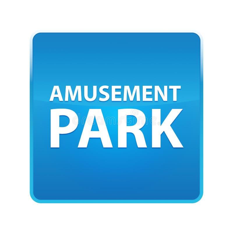 Bouton carré bleu brillant de parc d'attractions illustration de vecteur
