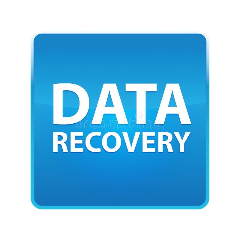 Bouton carré bleu brillant de récupération de données illustration de vecteur