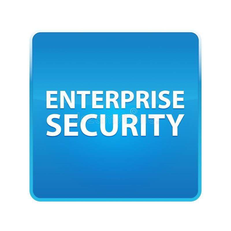 Bouton carré bleu brillant de sécurité d'entreprise illustration libre de droits