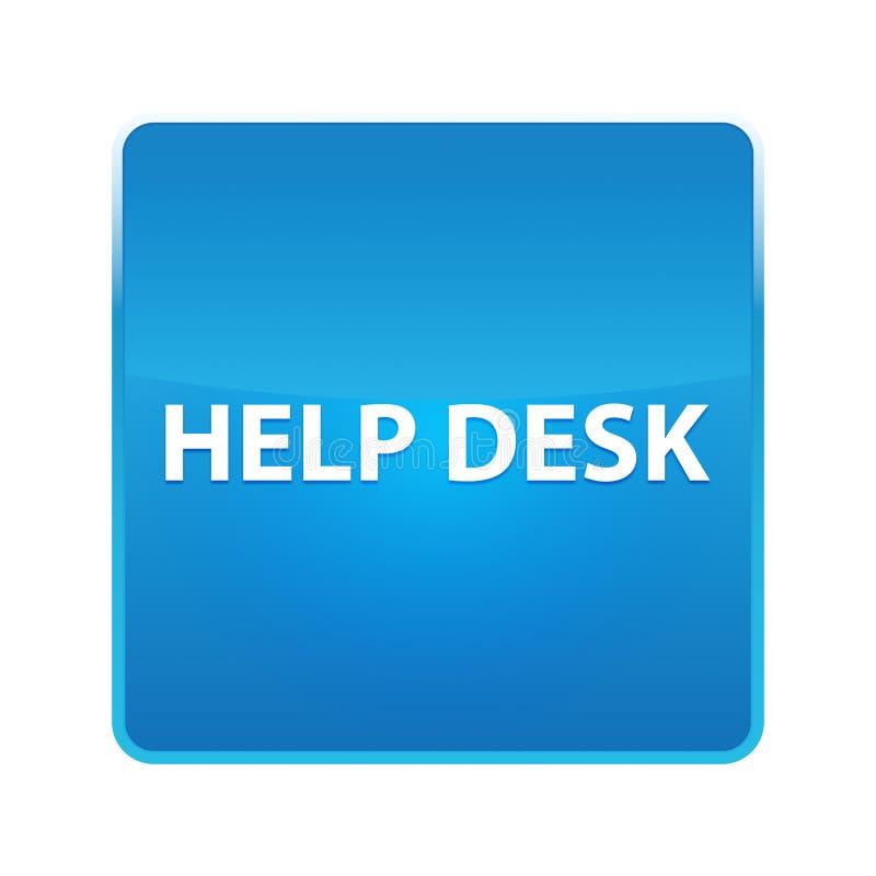 Bouton carré bleu brillant de service SVP illustration libre de droits