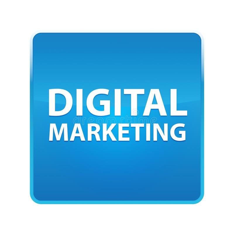 Bouton carré bleu brillant de vente de Digital illustration libre de droits