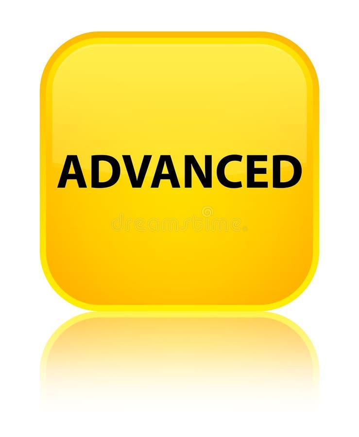 Bouton carré jaune spécial avancé illustration de vecteur