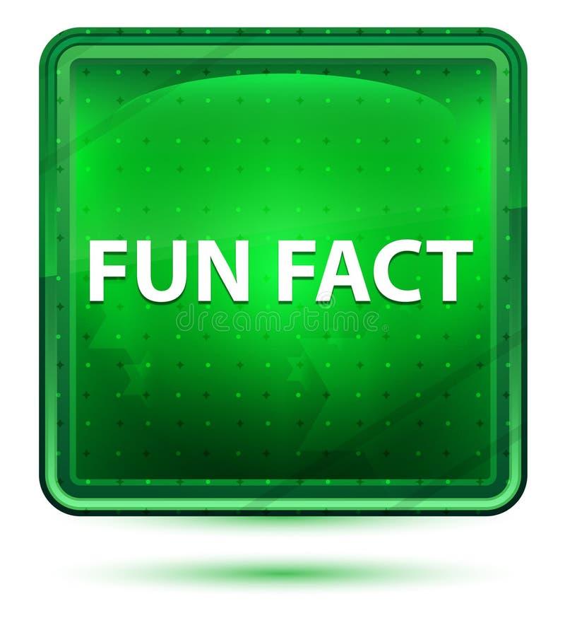Bouton carré vert clair au néon d'anecdote amusante illustration de vecteur