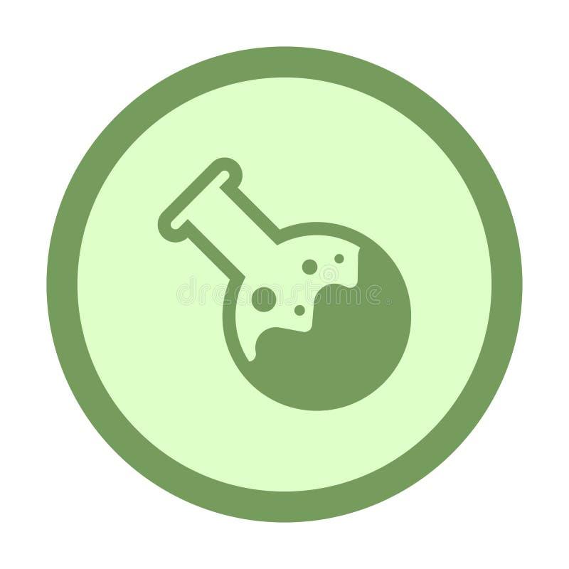 bouton chimique de cercle de tube illustration de vecteur
