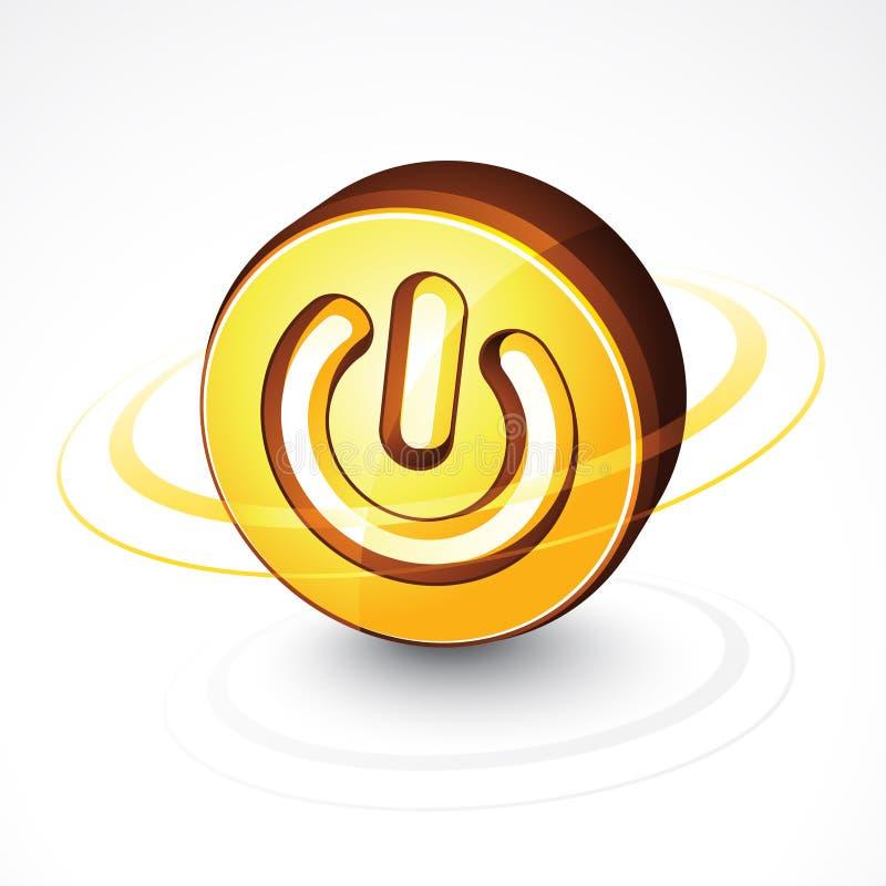 Bouton circulaire de pouvoir illustration de vecteur