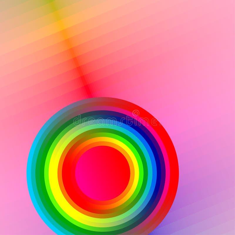 Bouton coloré, vecteur illustration de vecteur