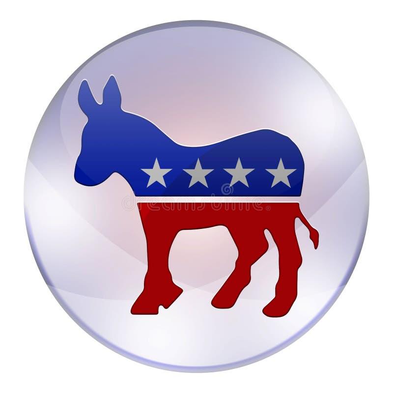 Bouton d'élections de Démocrate illustration libre de droits