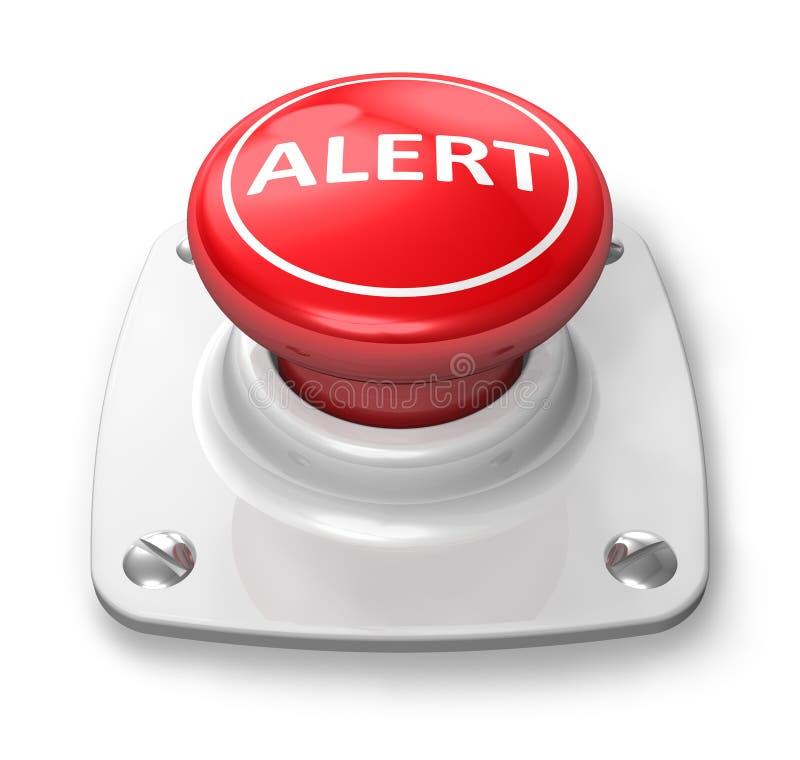 Bouton d'alerte rouge illustration de vecteur