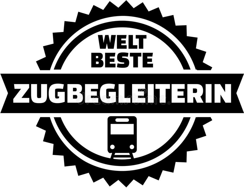 Bouton d'Allemand de préposé de train du ` s du monde le meilleur illustration de vecteur