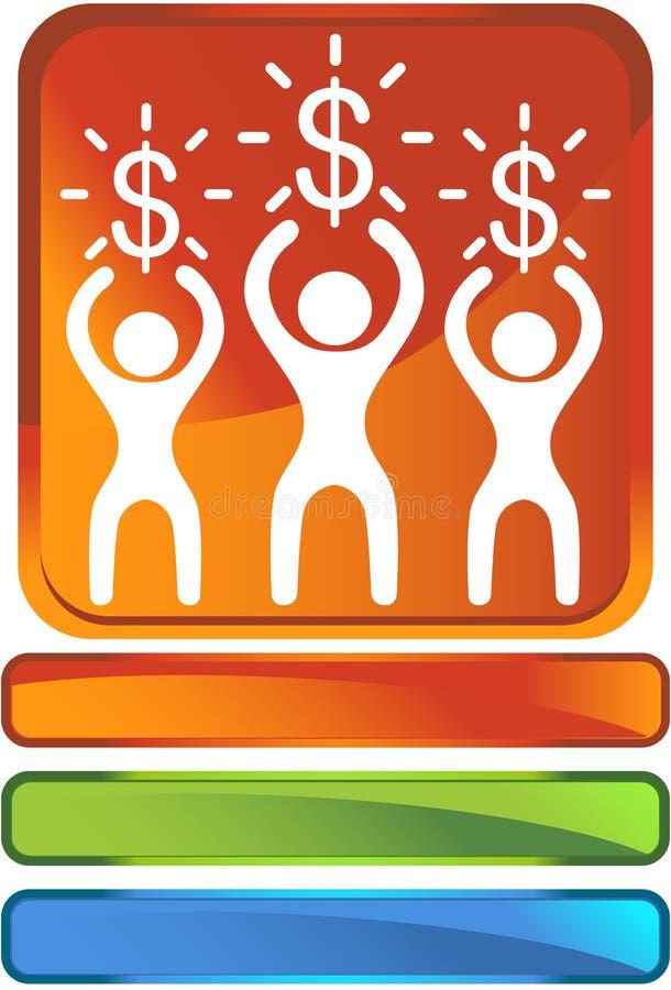 Bouton d'argent illustration libre de droits