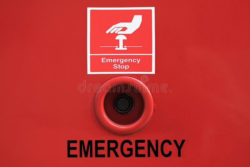 Bouton d'arrêt d'urgence photographie stock