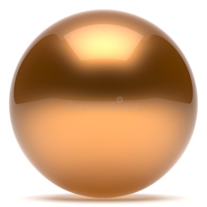 Bouton d'or de cercle rond géométrique de forme de boule de sphère illustration de vecteur