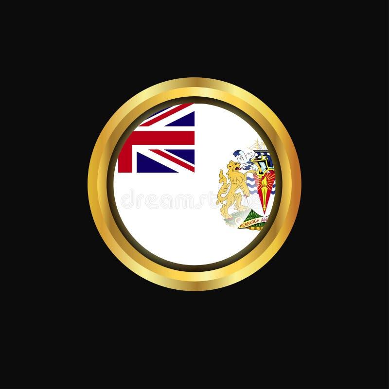 Bouton d'or de drapeau antarctique britannique de territoire illustration stock