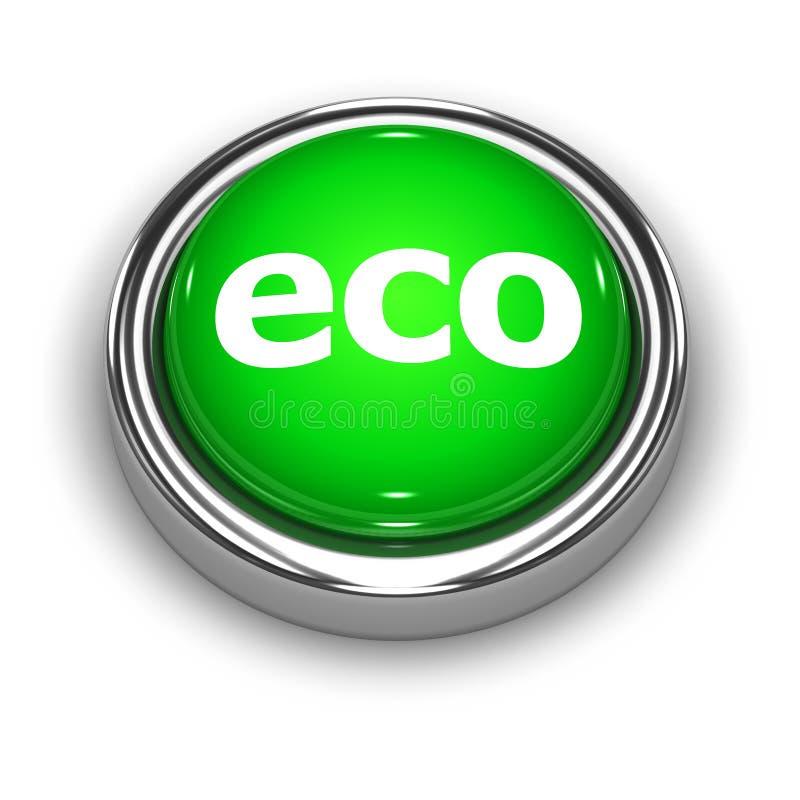 bouton d'Eco du vert 3d illustration de vecteur