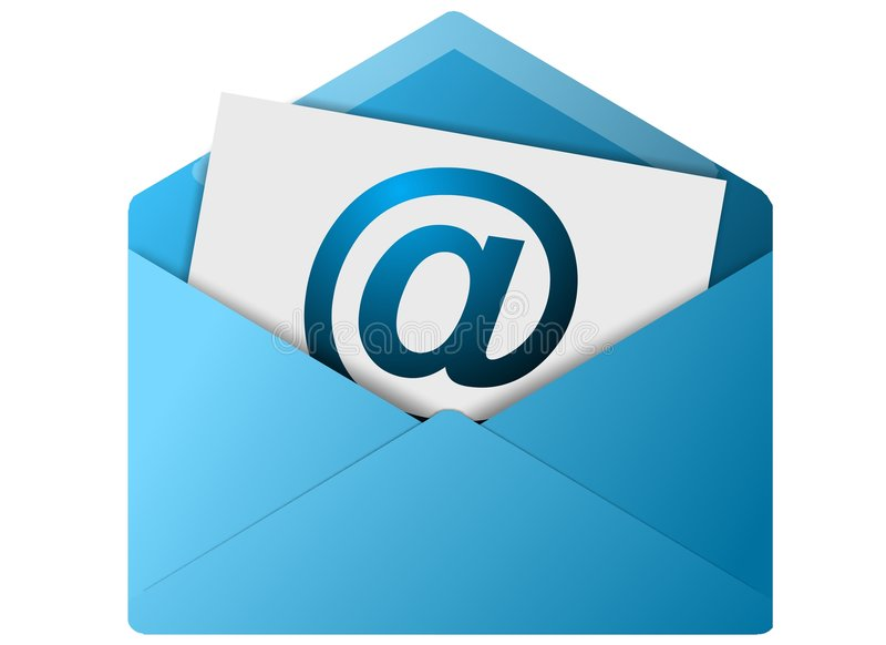 Bouton d'enveloppe d'email illustration stock
