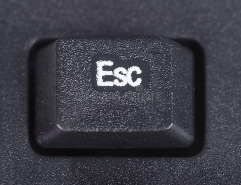 Bouton d'ESC sur le clavier de l'ordinateur images stock