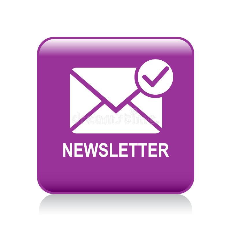Bouton d'icône de courrier de bulletin d'information illustration libre de droits