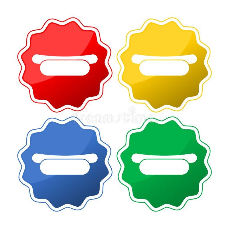 Bouton d'icône de hot-dog illustration stock