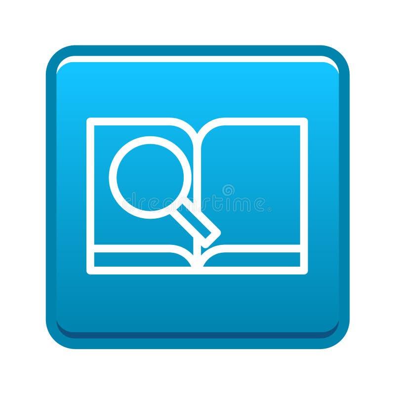 Bouton d'icône de livre de recherches illustration de vecteur