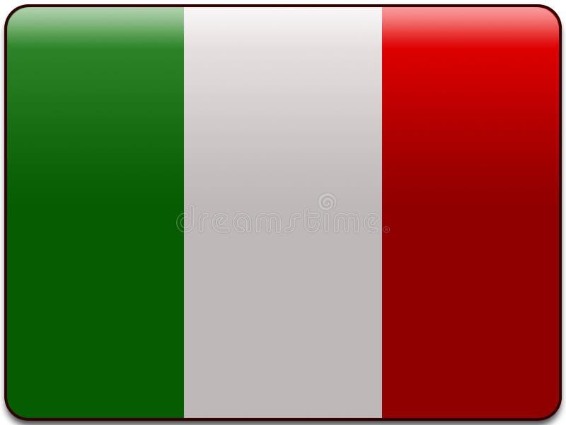 Bouton d'indicateur de l'Italie illustration libre de droits