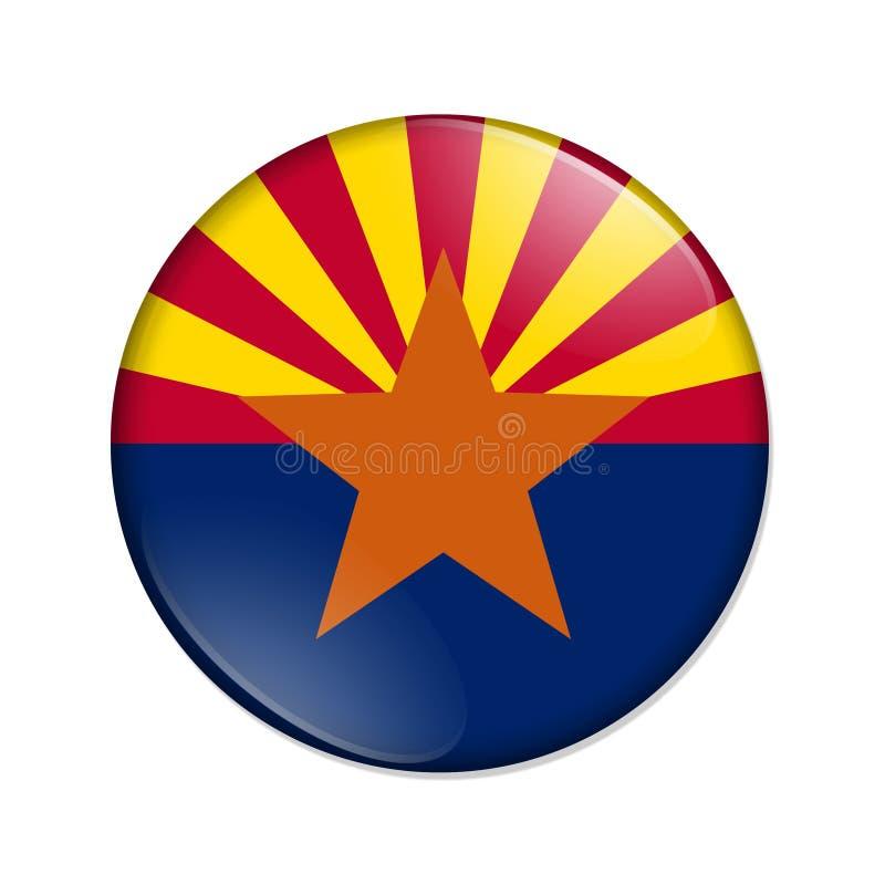 Bouton d'insigne de drapeau d'état de l'Arizona illustration libre de droits