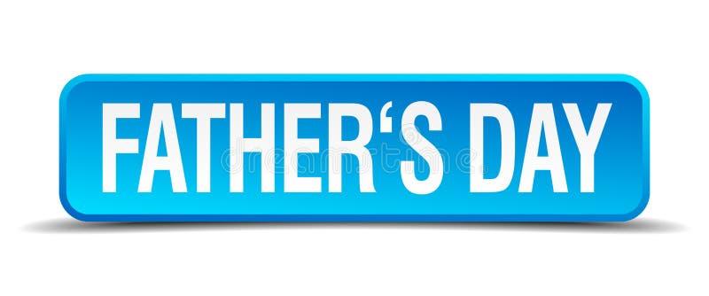 Bouton d'isolement par place réaliste bleue de jour de pères illustration libre de droits
