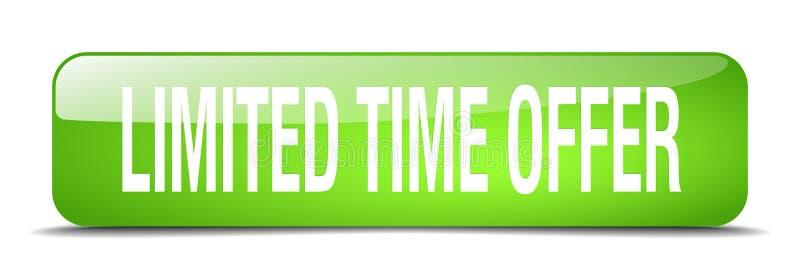 bouton d'offre de temps limité illustration libre de droits