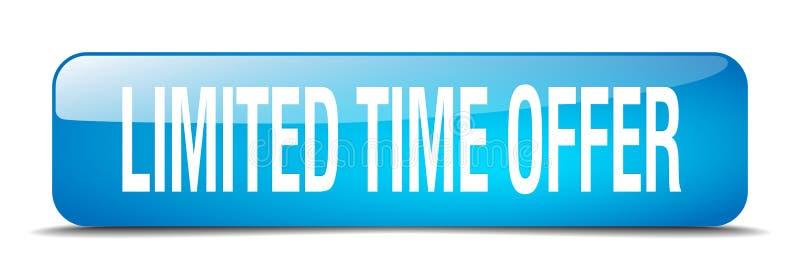 bouton d'offre de temps limité illustration de vecteur