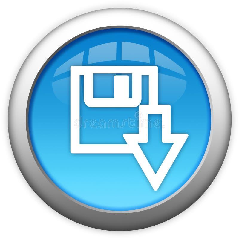 Bouton d'ordinateur de téléchargement illustration de vecteur