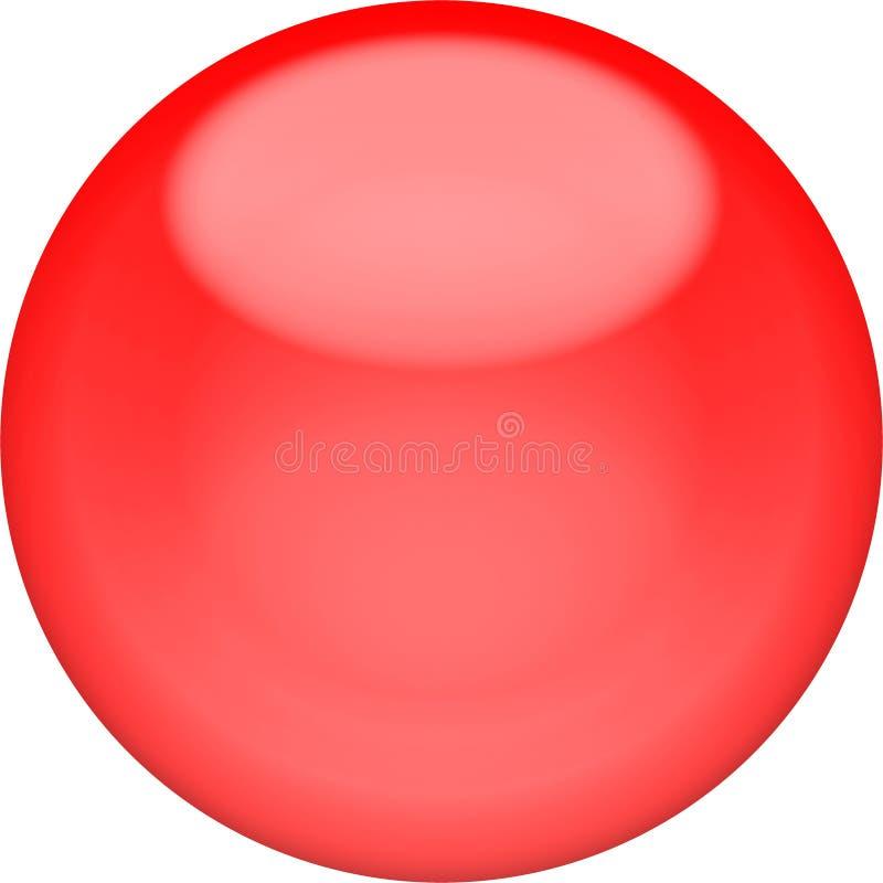 Bouton 3d - sphère brillante rouge de Web, d'isolement illustration libre de droits